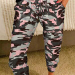 Pink Camo Casual Sports Pants